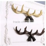 wholesales decorative resin artificial deer antler crafts for wall decor