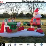 Best selling newest outdoor santa playing hockey christmas inflatable