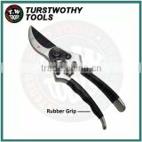 "Taiwan 8 1/2"" 215mm SK5 PTFE blade forged aluminum handle with rubber grip Garden Scissors garden ByPass Pruner"