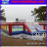 XIXI PVC inflatable water Football Sport Pitch,water soap soccer field with net wall                                                                         Quality Choice