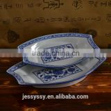 Japanese ceramic dinner set boat shape dessert plate dishes