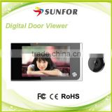 Original design lowest price hidden door wireless camera , door peephole camera wireless