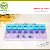 Weekly 14 cases pill box from China supplier