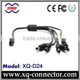 XinQi Black One Female To Five Male CCTV Camera 4mm2 DC Power Plug DB 15 To BNC Cable