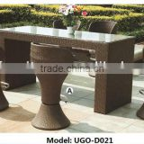 Best Outdoor Furniture Style with Long Bench Rattan Table and Top Chairs from UGO Vendor
