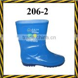 Blue children pvc rain boots, pvc rain boots for kids