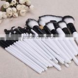 white wooden handle makeup brushes ,synthetic hair makeup brushes set 36 pcs ,professional makeup brush