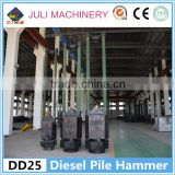 Juli brand DD25 rod type diesel pile drive hammer for Russia, Vietnam, Indonesia, Philippines