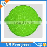 Multifunctional Stainless Steel Splatter Screen Guard Silicone Splatter Screen Strainer Trivet