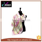 fashional twill printing large square silk scarf                                                                         Quality Choice