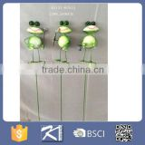 Decorative Frog and Ant Metal Garden Stake Wholesale