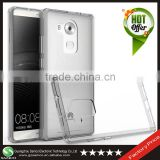 Samco Clear Ultra-thin Transparent TPU Frame + Acrylic Back Cover Phone Protector Case for Huawei Mate 8