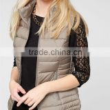 Manufature quality 100%polyester warm keeper womens lightweight down filled vest jackets weight vest
