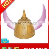 Golden Warrior Plastic Viking Helmet with Light Up Horns