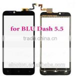 hot sale cell phone accessories for Blu Dash 5.5 D470 touch with lcd display complete replacement