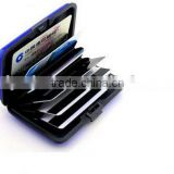 Alibaba express protected aluminum card holder/Customized colors card guard aluminum wallet/ABS Material and Credit Card