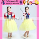 2015 snow white cosplay Christmas Princess dress beautiful girl short sleeve children princess evening dress