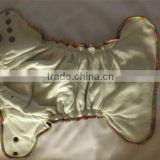 one size baby cloth diaper with velour material