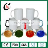 Wholesale 11oz white ceramic sublimation cup blank sublimation mug for sublimation transfer machine