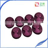 sell hot attractive resin lady cameo,loose falt back resin cameos for accessories