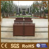 Guangdong garden fence composite wood picket fence flower pot planter and planter extender