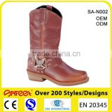 "China factory fashional goodyear welted brown 10"" high heel rubber boots, leather thigh high boots, high boots (SA-N002)"