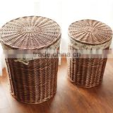 Large Wicker storage laundry basket in Brown