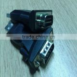 Black USB2.0 to RS232 VGA Parallel Serial DB9 9Pin Adapter Converter
