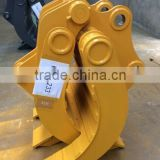 mechanical/manual excavator rock grapple log grapple/timer wood grapple kobelco sk200/sk210/sk220/sk250/sk300/sk330/sk350