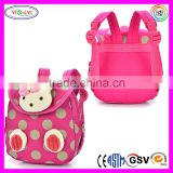 B587 Hot Pink Soft Child 3D Cartoon Backpack Teen Kid School Bag Shoulder Teen Backpack