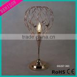 2016 new spring home decorative lighting electroplate iron forging wire w/butterfly cage for Table Lamp modern desk Light item