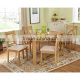 2017 Trade Assurance Classic design all weather light color wood dining table set furniture
