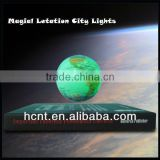 "best sales:3"" magnetic floating globe with LED light for globe international"