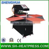 Pneumatic sublimation four stations rosin heat press machine