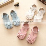 zm35338a new design footwear kids girl bowknot pu leather sandal