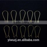 Copper Made Gold plated U-Shaped ear clips Accessories with Silver Jewelry Ear Wire Hook