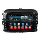 Wholesale New Fiat 500 2 Din Central DVD Automotivo com TV Player with Radio GPS Navigation Android