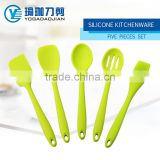 FDA,LFBG Grade Silicone covered Nylon Kitchenware Five Pcs Set