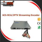 6/12/18/24 channels High Density CVBS IPTV Encoder