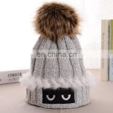 Funny weaven women hats ear cap for girl lady with lining