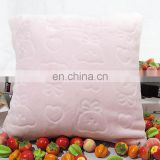 cheap pure color colorful Soft pupple Embossed Cartoon back cushion