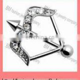 New style fashion cool arrow nipple ring shield body piercing jewelry