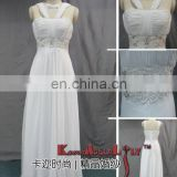 EB1014 Fascinating chiffon lace Classic Wedding dress wide straps slim line wedding gown