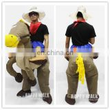 halloween cosplay costume horse riding clothes pony inflatable costume lyjenny pvc suit for adults carry ride on costume