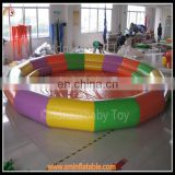 Hot selling colorful inflatable float pool holiday,inflatable donut pool float,inflatable outdoor swimming pool