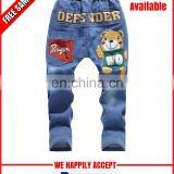 Custom printed children jeans at wholesale