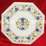 Marble Inlay Coffee Table Tops, Marble Inlay Pietar Dura Table Top