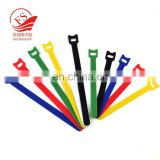 China manufacturers self-locking hook loop cable tie holder thin cable tie tag with label