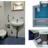 Marine/ship Sanitary/wet Unit with Bathtub/bathroom/shower