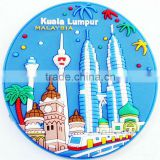 Flexbile 3D PVC Plastic Coaster For Dubai Souvenir Gift, quality gifts